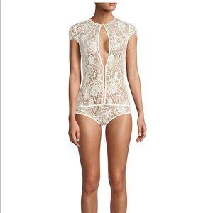 Kiki De Montparnasse Coquette LaceKeyhold Bodysuit